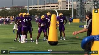 Video: LSU football practice, Wednesday La. Tech game week