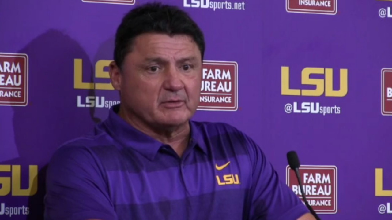 Video Ed Orgeron Mississippi State Post Game Tigerbait Com