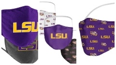 Biggest selection of LSU face coverings!