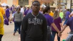 De La Salle LB Keidrick Richardson ecstatic reaction to LSU offer