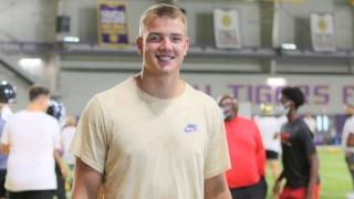 Jake Johnson lights up LSU football camp